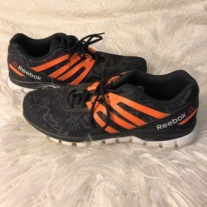 Black Reebok running shoes size 10